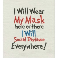 I will wear my mask here or there